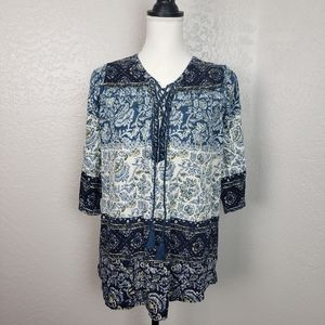 Lucky Brand Popover Top Size 1X